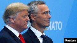 Дональд Трамп и Йенс Столтенберг