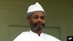 File photo taken on 21 Oct 1989 shows then-Chadian President Hissene Habre on an official visit in Paris