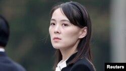 Kim Yo Jong, em gái lãnh tụ Triều Tiên Kim Jong Un, dự lễ tại lăng Hồ Chí Minh ở Hanoi, Việt Nam, ngày 2/3/2019. REUTERS/Jorge Silva/Pool