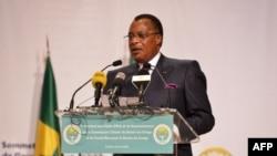 Le Président de la République du Congo, Denis Sassou Nguesso, lors d'un sommet sur le fleuve Congo, le 29 avril 2018 à Brazzaville.