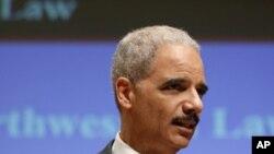 美國聯邦司法部長霍爾德三月五日在芝加哥的西北大學發表反恐演說