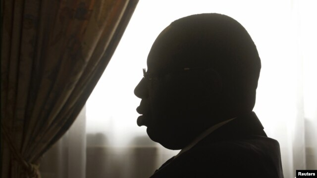 Senegal's President Macky Sall in meetings at the presidential palace, Dakar, July 28, 2012.