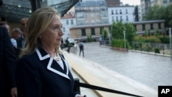 Secretary of State Hillary Rodham Clinton in Paris, July 6, 2012.