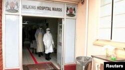Zimbabwe's health workers wear