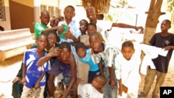 Children at Ginddi Center for children in difficulty in Dakar