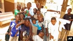 Children at Ginddi Center for children in difficulty in Dakar