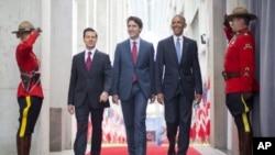 Енріке Пенья Ньєто, Джастін Трюдо і Барак Обама