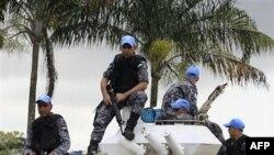 Binh sĩ Liên Hiệp Quốc canh gác tại Abidjan, Cote D'Ivoire, ngày 5/12/2010