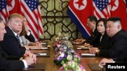美國總統特朗普與北韓領導人金正恩2月28日在越南河內再度會晤。