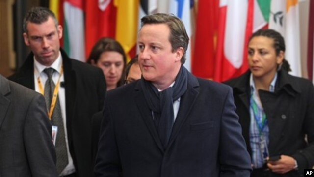 British Prime Minister David Cameron during the EU Budget summit.