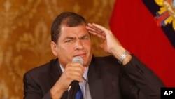 """El gobierno del presidente Rafael Correa """"ha perseguido por mucho tiempo a Fundamedios"""" dijo un directivo de la ONG."""