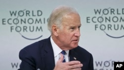 Wapres AS Joe Biden di forum ekonomi Davos, Swiss.