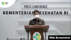 Menteri Kesehatan Budi Gunadi Sadikin dalam konferensi pers daring, Rabu, 17 Februari 2021. (Foto: screenshot)