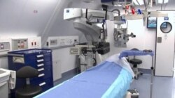 Hospital volador para intervenciones oculares