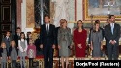 Іспанська монарша родина. Фото 23 грудня 2010 р.
