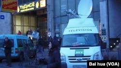 러시아 국영방송 RT 방송 차량이 모스크바에 주차되어 있다. (자료사진)