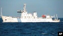 中國將擴大其沿海地區的海上巡邏力量﹐圖為中國海監船。
