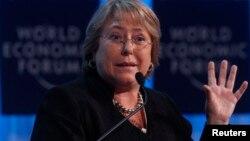La política socialista, de 61 años, fue presidenta de Chile entre 2006 y 2010.