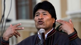 Bolivia's President Evo Morales speaks during May Day celebrations at Murillo square in La Paz, May 1, 2013.
