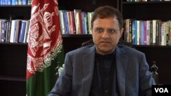 FILE - Afghanistan's ambassador to Pakistan, Omar Zakhilwal, speaks to VOA in Islamabad.