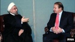 دیدار حسن روحانی رییس جمهوری ایران با نواز شریف نخست وزیر پاکستان