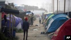 Sansanin Yan Gudun Hijira kusa da garin Calais a Faransa