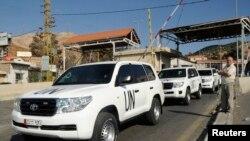 聯合國武器檢查人員準備進入敘利亞