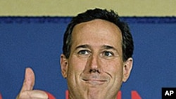 桑托勒姆在星期二的兩州初選獲勝