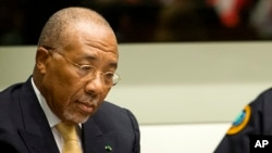 FILE - Former Liberian President Charles Taylor.