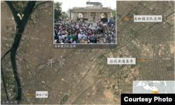 地图: 共和国卫队总部, 开罗解放广场 (谷歌地图)