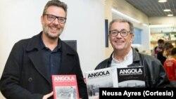 Jorge António e o editor Manuel Fonseca (direita)