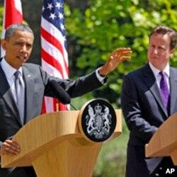 Le Premier ministre David Cameron et le président Obama