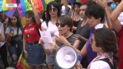 İzmir'de Onur Yürüyüşü Yasağına Protesto