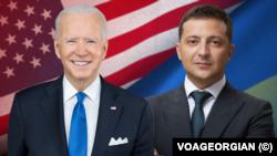 Prezida wa Amerika, Joe Biden, na prezida wa Ukraine, Volodymyr Zelensky