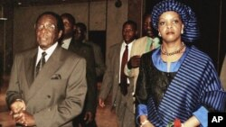Zimbabwe's President Robert Mugabe and his wife Grace. (AP)