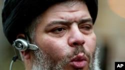Ulama asal Mesir, Abu Hamza al-Masri dikenai dakwaan membantu aksi penyanderaan di Yaman tahun 1998 (foto: dok).