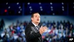 Senator Ted Kruz objavljuje kandidaturu za predsedničku nominaciju Republikanske stranke na Univerzitetu Liberti u saveznoj državi Virdžiniji