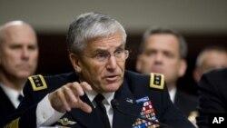 美國陸軍總司令凱西將軍出席參議院聽證會