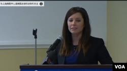 美國公共外交咨詢委員會的執行董事凱瑟琳布朗星期二(5月5日)在一場公開會議中