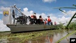 Proyecto de restauración del Refugio Nacional del Delta en Luisiana.