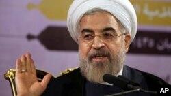 Tổng thống Iran Hassan Rouhani phát biểu trong cuộc họp báo ở Tehran, Iran, 14/6/2014.