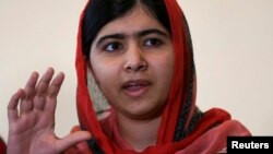 Malala Yousafzai da Abuja, 13 Yuli 2014.