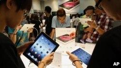 iPad ຂອງຫຼິ້ນໃໝ່ຈາກ ບໍລິສັດ Apple ຊຶ່ງເປັນທີ່ນິຍົມກັນຫຼາຍທີ່ສຸດ