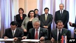 Potpisivanje sporazuma o razumevanje izmedju vlade Srbije i južnokorejskih predstavnika kompanije Jura