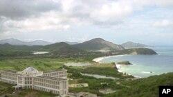 Vista panorámica de la Isla de Margarita, en el Caribe venezolano, lugar que más visitas de turistas extranjeros recibe en el país petrolero.