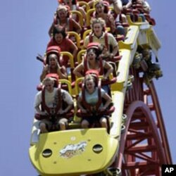 Roller coaster ride at Hershey Park