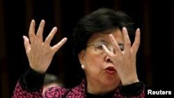 世界衛生組織總幹事陳馮富珍在星期四就寨卡病毒發表聲明