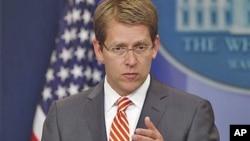 白宫发言人卡尼在白宫记者会上。(资料照片)