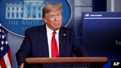 美国总统特朗普在白宫记者会上讲话(2020年4月17日)