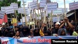 روہنگیا مہاجرین (فائل)